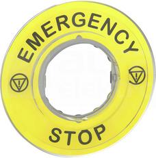 ZBY9320*EMERGENCY STOP ETYKIETA OKRAGLA D60 WYL.BEZ