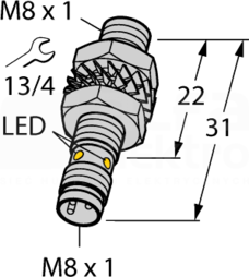 BI2-EG08K-AP6X-V1131 Czujnik indukcyjny