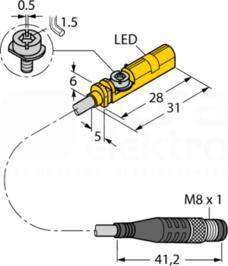 BIM-UNT-AP6X-0,3-PSG3M Czujnik magneto-indukcyjny