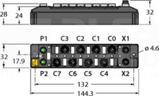 TBEN-S1-4DIP-4DOP Moduł I/O sieci ETHERNET