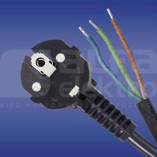W-2T H05RR-F 3x1,0 3,0m czarny Przewód przyłączeniowy guma