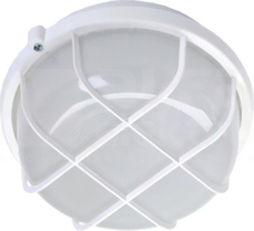OKRĄGŁA 100W E27 IP44 biały Oprawa żarówkowa