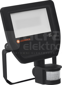 FLOODLIGHT 20W/4000K 2200lm 100D IP65 czarny Naświetlacz LED z czujnikiem ruchu