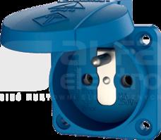 Gniazdo 16A 2P+E 230V niebieski IP44 tablicowe zac.bezśrub.(z bolcem)