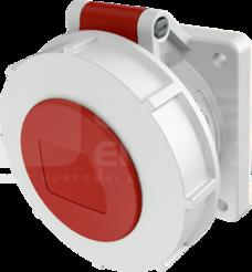Gniazdo 16A 4P 6h 400V IP67 tablicowe proste zac.śrub.