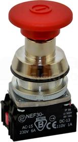 NEF30-DRc XY czerwony Przycisk dłoniowy ryglowany
