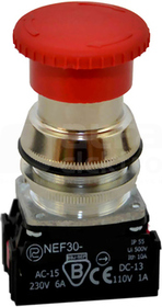 NEF30-DRPc XY czerwony Przycisk dłoniowy ryglowany
