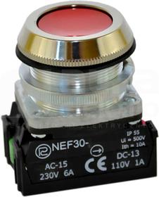 NEF30-Kc XY czerwony Przycisk sterowniczy kryty
