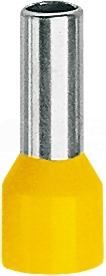 TE 1,5-10 żółty (100szt) Końcówka tulejkowa izolowana