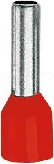 TE 4-10 czerwony (100szt) Końcówka tulejkowa izolowana