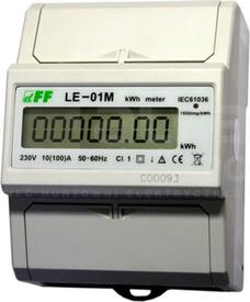 LE-01M 10(100)A 230V LICZNIK ENERGII 1-FAZ.1MOD.
