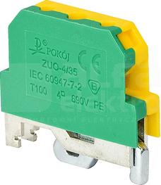 ZUO-4/35 żółto-zielony Złączka 1-torowa ochronna