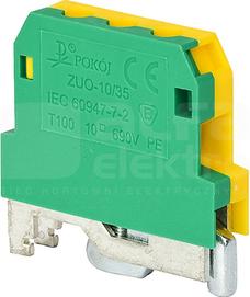 ZUO-10/35 żółto-zielony Złączka gwintowa ochronna