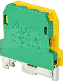 ZUO-16/35 żółto-zielony Złączka gwintowa ochronna