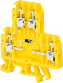 ZUG-G/22/E5R 600V żółty Złączka 1-torowa diodowa
